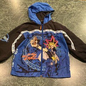 Vintage 1996 Yu-Gi-Oh Hooded Jacket Youth Size 4/5